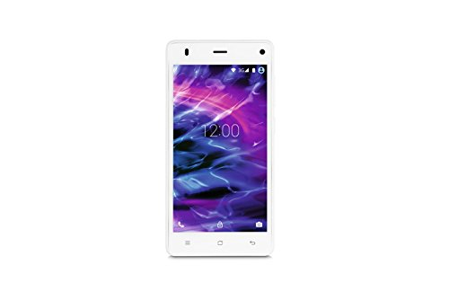 Medion E5001 MD 99477 Smartphone (12,7 cm (5 Zoll), 1,3 GHz, Quad-Core Prozessor, 3G, 8 Megapixel Kamera, Android 5.0 Lollipop, Dual-SIM) weiß