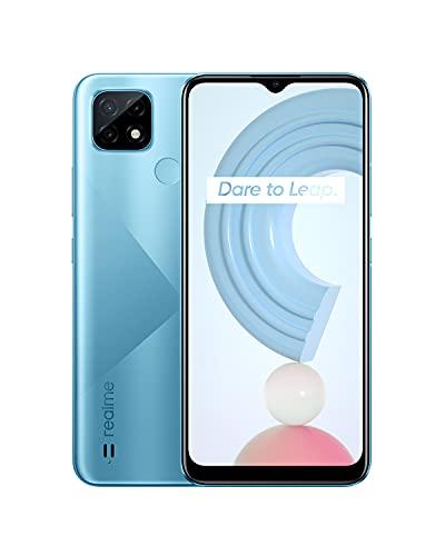 realme C21 Smartphone ohne Vertrag, 6,5 Zoll (16,5 cm) Mini-drop-Fullscreen Android Handy, Starker 5000 mAh Akku, 13MP KI-Dreifach-Kamera, Leistungsstarker Helio-G35-Prozessor, Dual Sim, 4+64GB