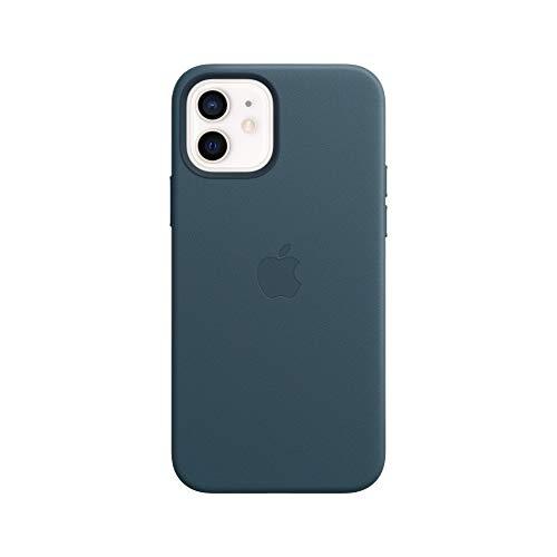 Apple Leder Case mit MagSafe (für iPhone 12 | 12 Pro) - Baltischblau
