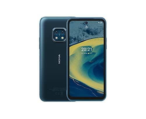 Nokia XR20, 6.67″ Full HD+ Display, 48MP Dual Kamera mit ZEISS-Optik, 15W Drahtlos- und 18W-Schnellladung, RAM 4GB/ ROM 64GB, Bedienbar mit nassen Händen und Handschuhen - Ultra Blue
