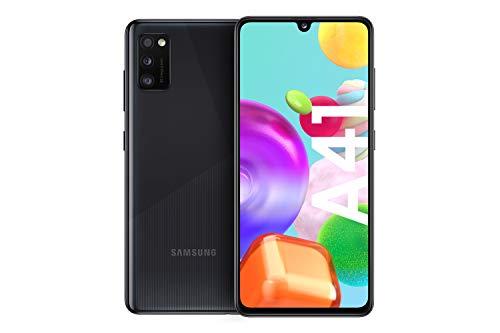 Samsung Galaxy A41 Android Smartphone ohne Vertrag, 3 Kameras, 6,1 Zoll Super AMOLED Display, 64 GB/4 GB RAM, Dual SIM, Handy in schwarz, deutsche Version