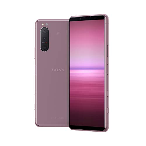 Sony Xperia 5 II 5G Smartphone (15,5 cm (6.1 Zoll) 21:9 CinemaWide FHD+ HDR OLED-Display, Dreifach-Kamera-System, 3,5-mm-Audio-Anschluss, Android 10, SIM Free, 8 GB RAM, 128 GB Speicher) Pink