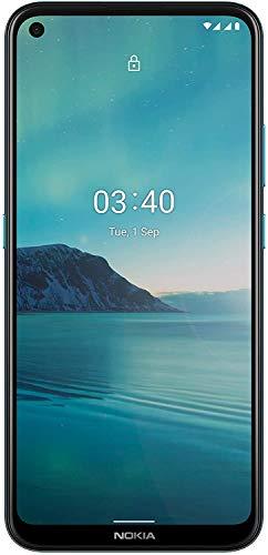 Nokia 3.4 Smartphone, 6,39 Zoll HD+ Display, Qualcomm Snapdragon 460, 3GB Ram, 64GB Speicher, 4000maH Akku; Porträt-/ Nachtmodus, 5MP ultraweitwinkel Kamera, Edelstahlrahmen, Android One - Fjord