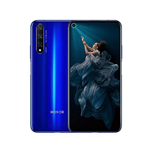 HONOR 20 Smartphone 6GB+128GB Speicher, 6,26 'FHD+, Kirin 980 CPU Vierfach-Rückfahrkamera AI 48 + 16 + 2 + 2 MP, 32 MP Frontkamera, seitlich angebrachter Fingerabdruck, NFC, Blau