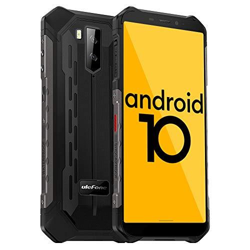 Ulefone Armor X5 Outdoor Handy - Android 10.0 Smartphones Ohne Vertrag IP68/IP69K Wasserdicht Stoßfest Staubdicht 4G hanyds Dual SIM 3GB RAM 32GB ROM 5,5-Zoll-Display 5000mAh Akku (Schwarz)