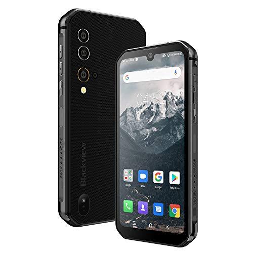 Blackview BV9900 (2020) Outdoor Smartphone, 256GB/8GB Helio P90 5,84 Zoll FHD Display 48MP-Vier-Kamera, 4380mAh BT5.0 UV-Detektion NFC OTG Android 9.0 IP68 Wasserdicht Dual SIM Handy ohne Vertrag