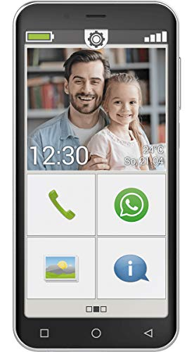 emporiaSMART.4 - Dieses Smartphone ist genau richtig für alle, die es handlich, kompakt und übersichtlich wollen. Inklusive Einer umfassenden Bedienungsanleitung und Trainingsbuch, schwarz