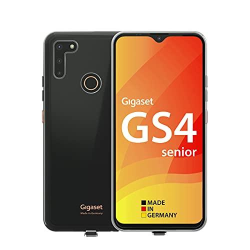 Gigaset GS4 Senior – Senioren-Smartphone mit SOS Funktion - Made in Germany - kontrastreiches 6,3 Zoll Full HD Display - inkl. Schutzhülle - Android 10, deep Black