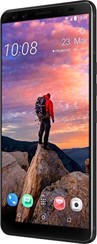 HTC U12+ Smartphone (15,24 cm (6 Zoll) Super LCD-Display, 64 GB interner Speicher und 6 GB RAM, Wasserdicht nach IP68, Dual-SIM, Android 8.0), Translucent Blau