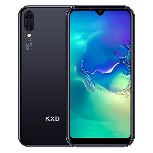 KXD A1 Smartphone ohne Vertrag 5.71 inch 16GB ROM 128GB erweiterbar, 5MP+5MP Dual Kamera, Dual SIM Android Entsperrtes Handy 3 in 1 Steckplatz, Global Version-Schwarz