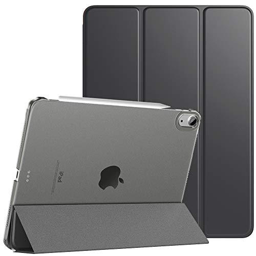 TiMOVO Hülle für iPad Air 4. Generation 10.9' 2020 Tablet, (Unterstützt 2. Gen iPencil Aufladen) Schlank Magnet Schutzhülle mit Transparenter Rückseite, Auto Schlaf/Wach Case - Space Grau