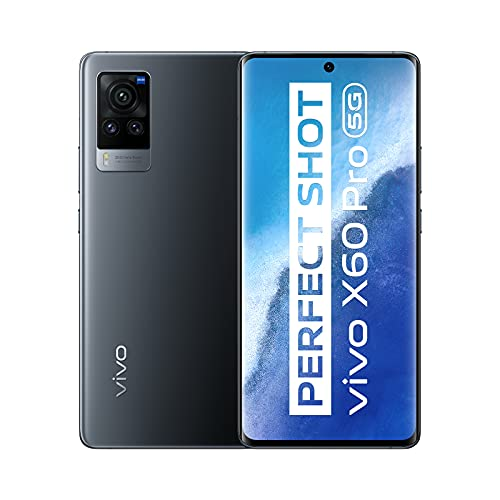 vivo X60 Pro 5G, 12 GB RAM + 256 GB ROM Smartphone, Powerful Shots, gemeinsam entwickelt von vivo und ZEISS, Qualcomm Snapdragon 870, LTM-Anzeige mit 120 Hz, Dual-SIM-Smartphone (Midnight Black)