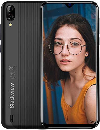 Blackview A60 Smartphone ohne Vertrag Günstig 15,49 cm (6,1 Zoll) HD+ Display 4080mAh Akku, 13MP+5MP Dual Kamera, 16GB ROM, 128 GB erweiterbar Dual SIM Android Einsteiger Handy - Schwarz