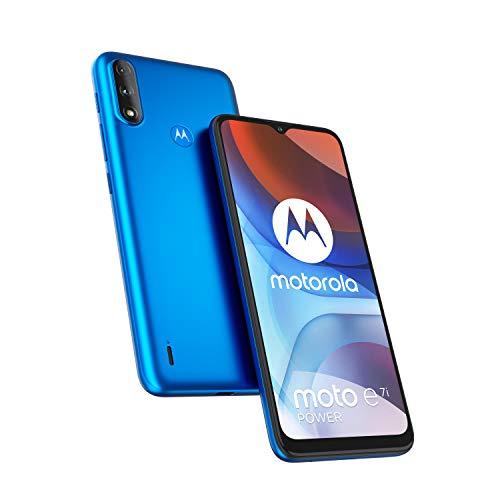 Motorola Moto E7i Power - Smartphone 32GB, 2GB RAM, Dual SIM, Tahiti Blue, Einheitsgröße