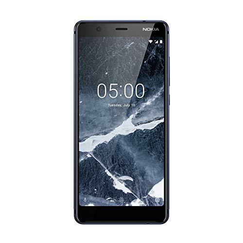 Nokia 5, 1 Smartphone Portable Dbloqu 4G (Ecran: 5, Pouces - 32 Go - Double Nano-SIM - Android) Bleu