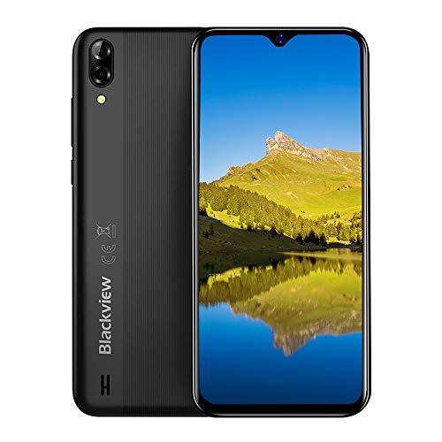 Blackview A60 pro (2020) 4G Smartphones Handy Ohne Vertrag, Android 9.0 6,1' Wassertropfen Bildschirm Dual-SIM 2,0 GHz 3GB + 16GB, 4080mAh Akku, Schwarz