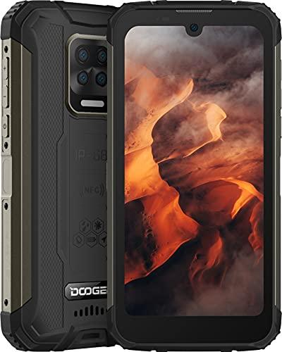 DOOGEE S59 (2021) Outdoor Smartphone ohne Vertrag, 10050mAh Akku, 4G Android 10 Outdoor Handy Wasserdicht mit 2W Lautsprecher, 4GB+64GB (256GB Erweitern), 16MP Quad-Kamera, 6,1' HD+, Dual SIM NFC/GPS