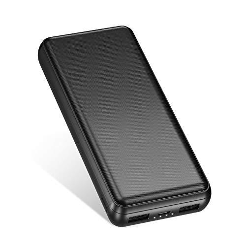IEsafy Powerbank 26800mAh Power Bank Externer Akku Tragbares Ladegerät 2 USB Ausgängen mit 2.4A für iPhone Huawei Xiaomi Samsung iPad Tablets Nintendo Switch und Mehr Smartphone