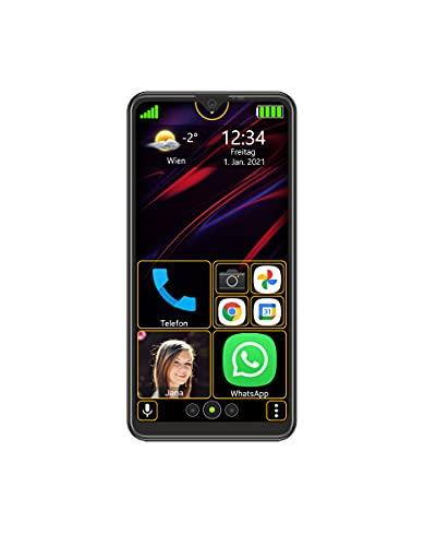 Beafon M6s - Smartphone, schwarz   Einfach und Sicher   Dieses Smartphone vereinfacht Ihnen alle Bedienungen und gibt Ihnen Sicherheit durch besondere Notruffunktionen