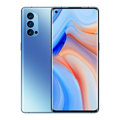 OPPO Reno4 Pro 5G Smartphone, 12 GB + 256 GB, Snapdragon 765G, 6,55 Zoll, 4000 mAh, 48 MP Kamera, freigeschaltet, Android 10, Dual-SIM, Blau