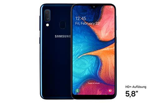 Samsung Galaxy A20e Smartphone (14.82cm (148.2 mm) 5.8 Zoll) 32GB interner Speicher, 3GB RAM, Dual SIM, Blau) - Deutsche Version