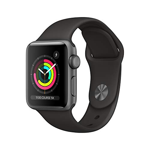 AppleWatch Series3 GPS, 38mm Space Grey Aluminium Case with Black Sport Band