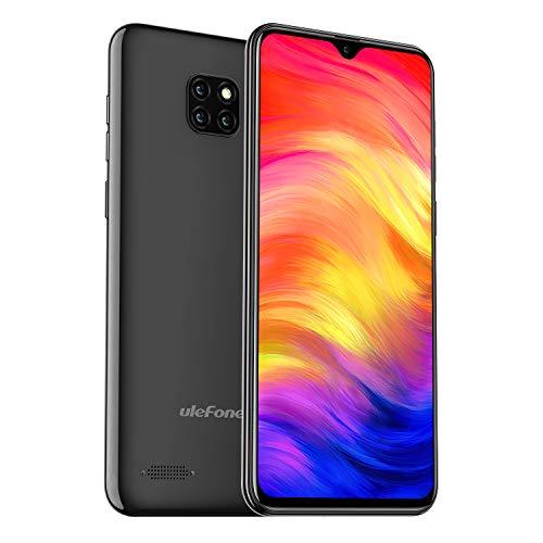 Ulefone Note 7 Smartphone ohne Vertrag - Android 9.0 Handy 16GB interner Speicher 6,1 Zoll Display 8MP Rückkamera DuaL SIM Schwarz
