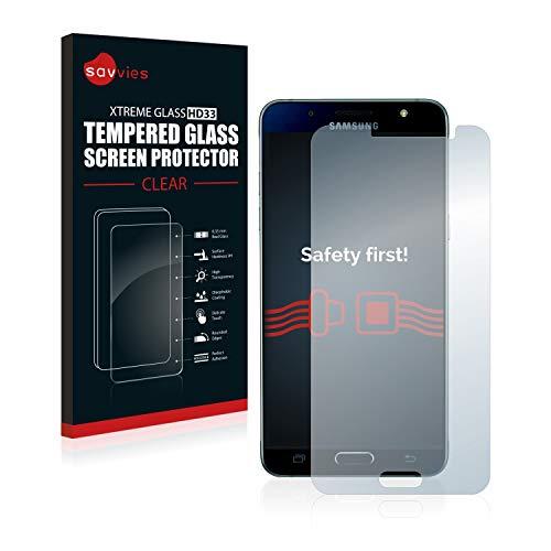 Savvies Panzerglas kompatibel mit Samsung Galaxy J5 2016 / Duos 2016 - Echt-Glas, 9H Härte, Anti-Fingerprint