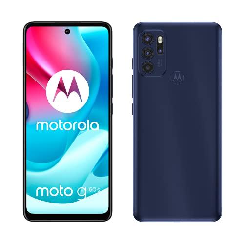 Motorola Mobility Moto g60s (6,8'-FHD+-Display, 64-MP-Kamera, 6/128 GB, 5000 mAh, Android 11), Dunkelblau, inkl. Schutzcover + TV-Now-Gutschein [Exklusiv bei Amazon]