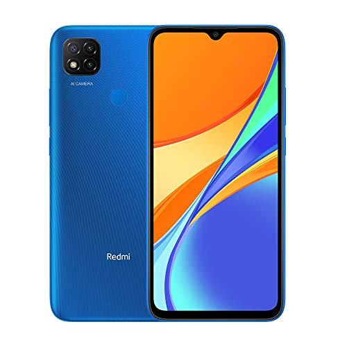 Xiaomi Redmi 9C Smartphone 2GB 32GB 6.53' HD+ Dot Drop Display 5000mAh (typ) AI Face Unlock 13 MP AI Triple Kamera [Globale Version] Blau