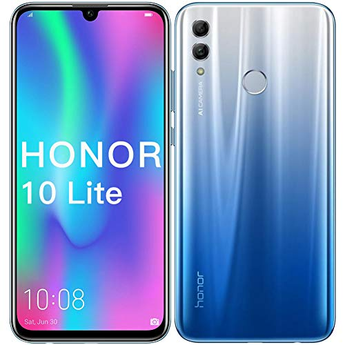 Honor 10 Lite Smartphone, 3 GB RAM, 128 GB ROM, 6,21 'FHD + Display, 13 + 2 MP Rückfahrkamera, 24 MP Frontkamera, Dual Sim (Cielo Blu)
