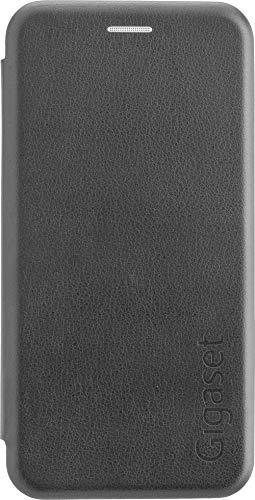 Gigaset Book Case (Rundum Schutz vermeidet Schäden, anti-scratch, Full Body Schutzhülle, mit 360°, Zubehör geeignet für GS185 Smartphone) schwarz