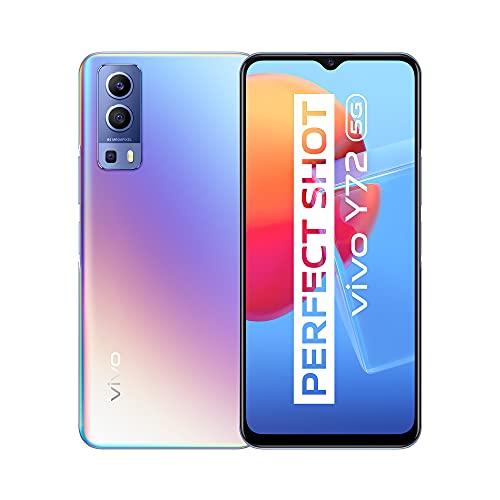vivo Y72 5G,8 GB + 128 GB Smartphone,Hauptkamera 64 MP,Akku mit 5000 mAh,FastCharge bei 18 W,Ultrastabiles EIS-Video,SIM-freie,Dual-SIM-Mobiltelefone (Dream Glow)