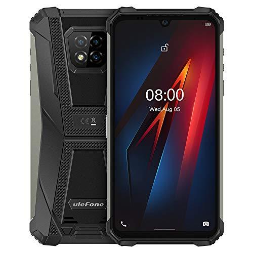 Ulefone Armor 8 Outdoor Smartphone Android 10, 6,1'' HD+ IP68 Wasserdichtes Robust Handy ohne Vertrag, Helio P60 4GB+64GB, 16MP Quad-Kamera, NFC DUAL SIM, Gesichtsentsperrung Fingerabdruck Schwarz