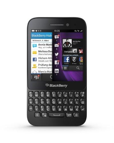 BlackBerry Q5 Smartphone (7,84 cm (3.1 Zoll) Display, QWERTZ-Tastatur, 5 MP Kamera, 8 GB interner Speicher, NFC, Blackberry 10.1 Betriebssystem) schwarz