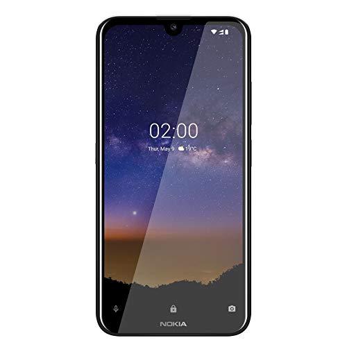 Nokia 2.2 Dual SIM Smartphone (14,5 cm (5.71 Zoll), 13 MP Hauptkamera, 2GB RAM, 16 GB interner Speicher, Android 9 Pie) Schwarz