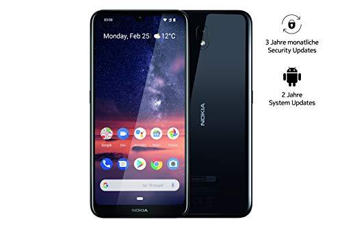 Nokia 3.2 Dual SIM Smartphone - Deutsche Ware (15,9 cm (6.26 Zoll), 13 MP Hauptkamera, 2GB RAM, 16 GB interner Speicher, Android 9 Pie) schwarz