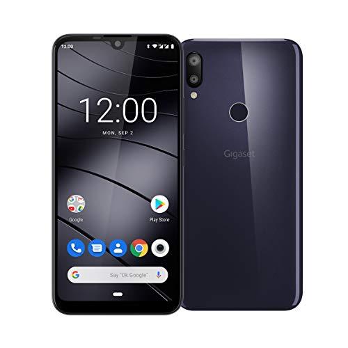 Gigaset GS190 Smartphone ohne Vertrag (15,49 cm (6,1 Zoll) V-Notch HD+ Display, 2GB RAM, 16GB Speicher, mit Android 9.0 Pie) night shade blue