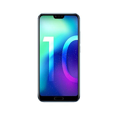 Honor 10 Smartphone (14,83 cm (5,84 Zoll), Full HD+ Touch-Display, 64GB interner Speicher, 4GB RAM, Silber – Deutsche Version