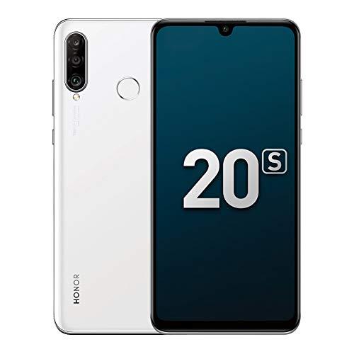 "Honor 20S Handy Smartphone, 6GB+128GB, 6,15"" FullView-Display, 48MP + 8 MP + 2 MP Hauptobjektiv, Weiter Winkel Dreifach-Kamera (Perl weiß)"