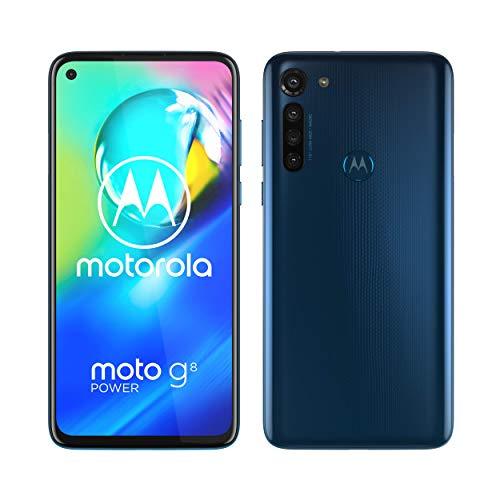Motorola Mobility PAHF0008DE moto g8 power Dual-SIM Smartphone (6,4 Zoll-Max Vision-HD+-Display, 16-MP-Hauptkamera, 64 GB/4 GB, Android 10) inkl. Schutzcover Blau