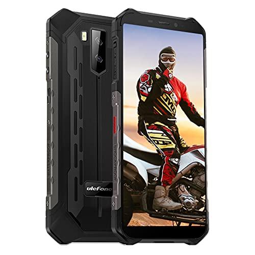 Ulefone Smartphones - IP68/IP69K Android 10 Outdoor-Handy ohne Vertrag Octa-Core-Prozessor 4GB+64GB Speicher 13MP+2MP Rückfahrkameras 5MP Frontkamera Unterwassermodus (Schwarz, Armor X5 Pro)