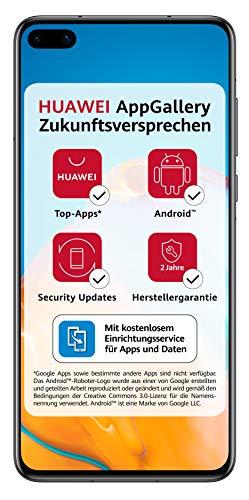 HUAWEI P40 Dual-SIM Smartphone BUNDLE (15,5 cm (6.1 Zoll), 128 GB interner Speicher, Android 10.0 AOSP ohne Google Play Store, EMUI 10.0.1) Midnight Black [+5 EUR Amazon Gutschein]