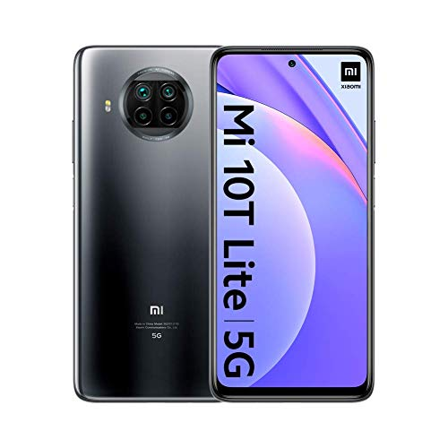 "Xiaomi Mi 10T Lite - Smartphone 6+64GB, 6,67"" FHD+ DotDisplay, Snapdragon 750G, 64MP AI Quad Camera, 4820mAh, Alexa Hands-Free, Pearl Gray (Official Version + 2 Jahre Garantie)"
