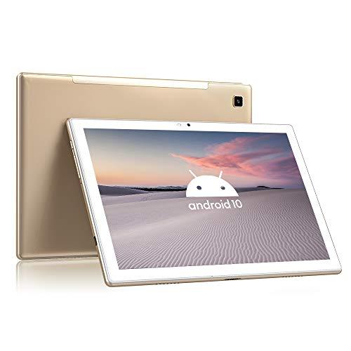 Blackview Tab8 Tablet 25,54cm (10,1 Zoll) Android 10 Tablet-PC (1920x1200 FHD, IPS, Touch 6580mAh Akku, Octa-Core-Prozessor, 4GB RAM, 64GB ROM, 4G LTE Dual SIM, Wi-Fi, GPS, Bluetooth) (Gold)