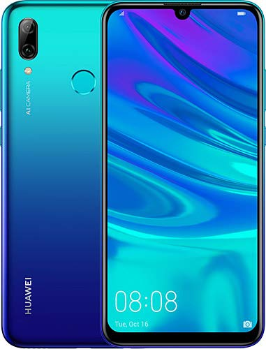 Huawei P smart 2019 64GB Hybrid-SIM Aurora Blau EU [15,77cm (6,21') LCD Display, Android 9.0, 13MP+2MP]