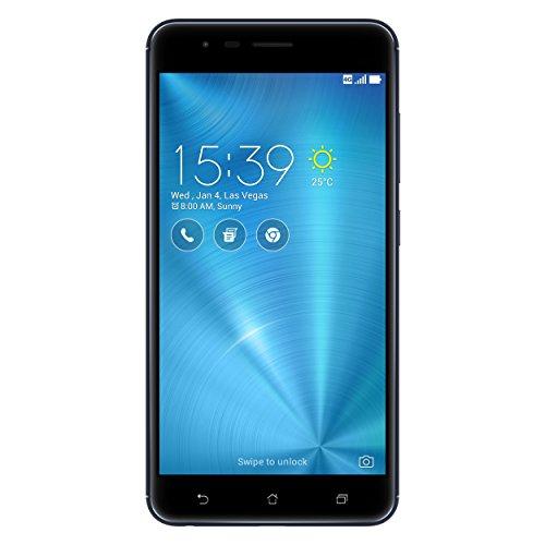 Asus ZenFone Zoom S ZE553KL Dual-SIM Smartphone (14 cm (5,5 Zoll) Full-HD Touch-Display, 64 GB Speicher, Android 6.0) schwarz (Navy Black)