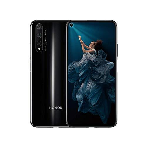 HONOR 20 Smartphone 6GB+128GB Speicher, 6,26 'FHD+, Kirin 980 CPU Vierfach-Rückfahrkamera AI 48 + 16 + 2 + 2 MP, 32 MP Frontkamera, seitlich angebrachter Fingerabdruck, NFC, schwarz