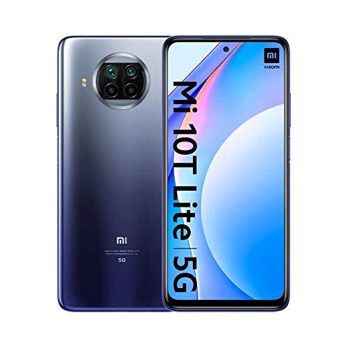 "Xiaomi Mi 10T Lite - Smartphone 6+64GB, 6,67"" FHD+ DotDisplay, Snapdragon 750G, 64MP AI Quad Camera, 4820mAh, Alexa Hands-Free, Atlantic Blue (Official Version + 2 Jahre Garantie)"