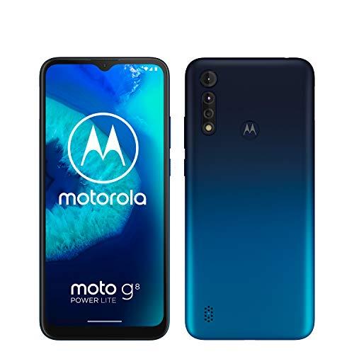 Motorola Mobility moto g8 power lite Dual-SIM Smartphone (6,5 Zoll-Max Vision-HD+-Display, 16-MP-Hauptkamera, 64 GB/4 GB, Android 9) inkl. Schutzcover Blau